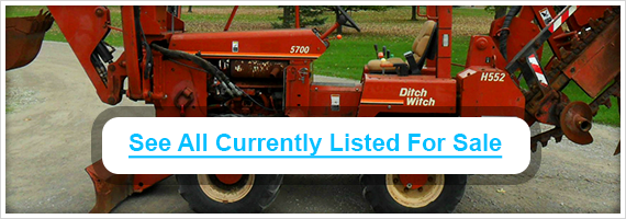 Used Ditch Witch backhoes for sale