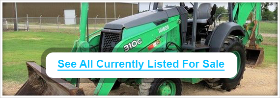 Used John Deere backhoes for sale