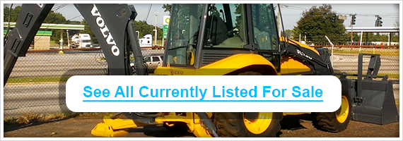 Used Volvo backhoes for sale